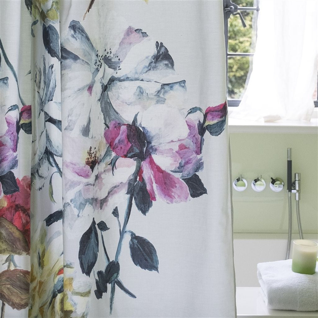Couture Rose Fuchsia Shower Curtain Design By Designers Guild Burke Decor