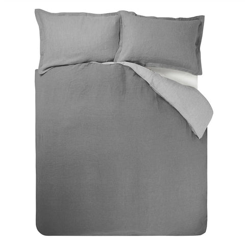 Biella Pale Grey & Dove Bedding