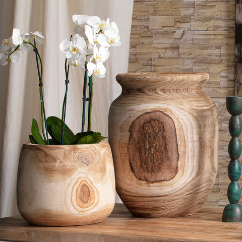 Brea Wooden Vase design by Jamie Young