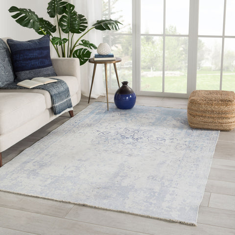Contessa Medallion Blue/ White Area Rug by Jaipur Living