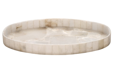 Genevieve Oval Alabaster Tray design by Jamie Young