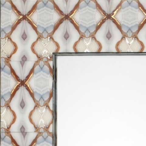 Kaleidoscope Rectangle Mirror on MDF design by Jamie Young