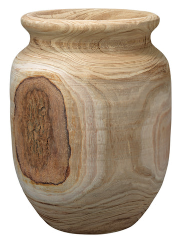 Topanga Wooden Vase design by Jamie Young