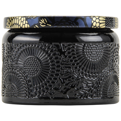 Petite Embossed Glass Jar Candle in Moso Bamboo design by Voluspa