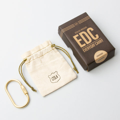 Brass EDC Carabiner design by Izola