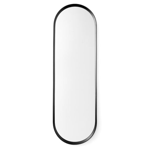 Oval Wall Mirror in Black design by Menu