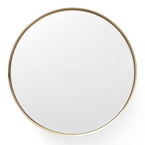 Darkly Mirror in Brushed Brass design by Menu