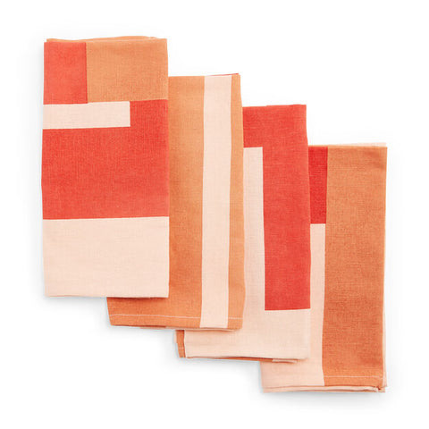 Marguerita Mergentime Once in a While Cloth Napkins in Orange