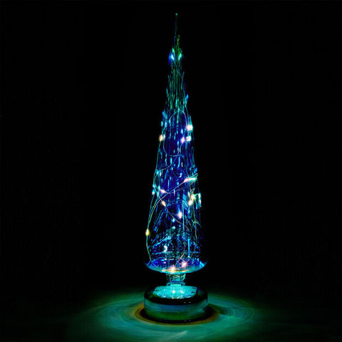 LED Lighted Tree in Teal