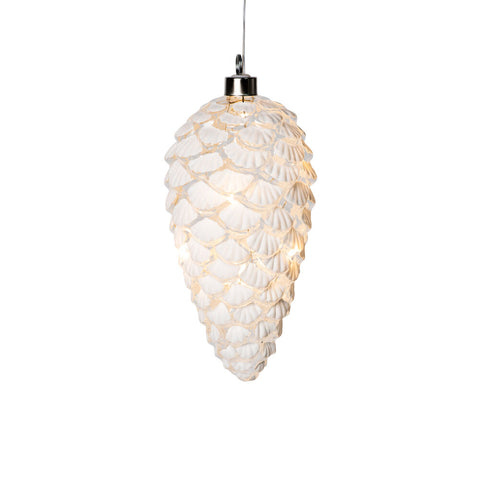 LED Pinecone Glass Holiday Ornament by MoMA