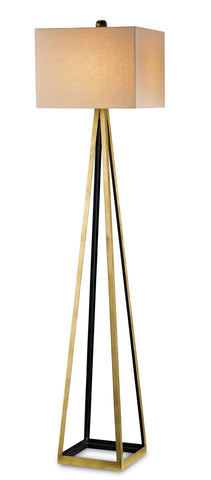 Bel Mondo Gold Floor Lamp design by Currey & Company
