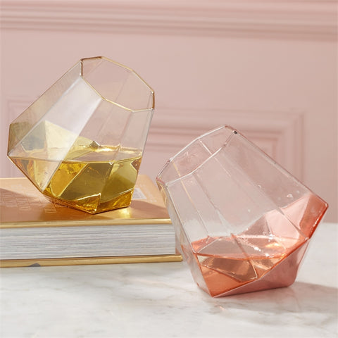 Shine Bright Like a Diamond Stemless Wine Glass in Various Colors design by Twos Company