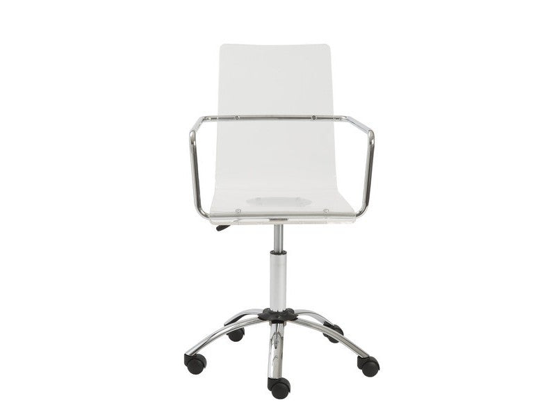 clear office chairs. Chloe Office Chair In Clear Design By Euro Style Chairs P