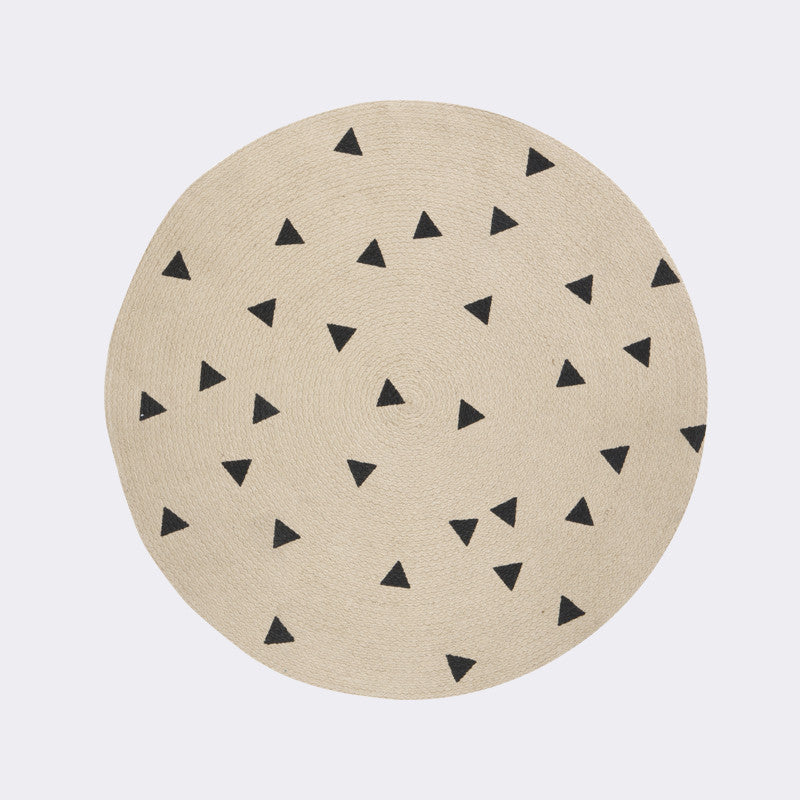 Round Carpet, Triangle design by Ferm Living