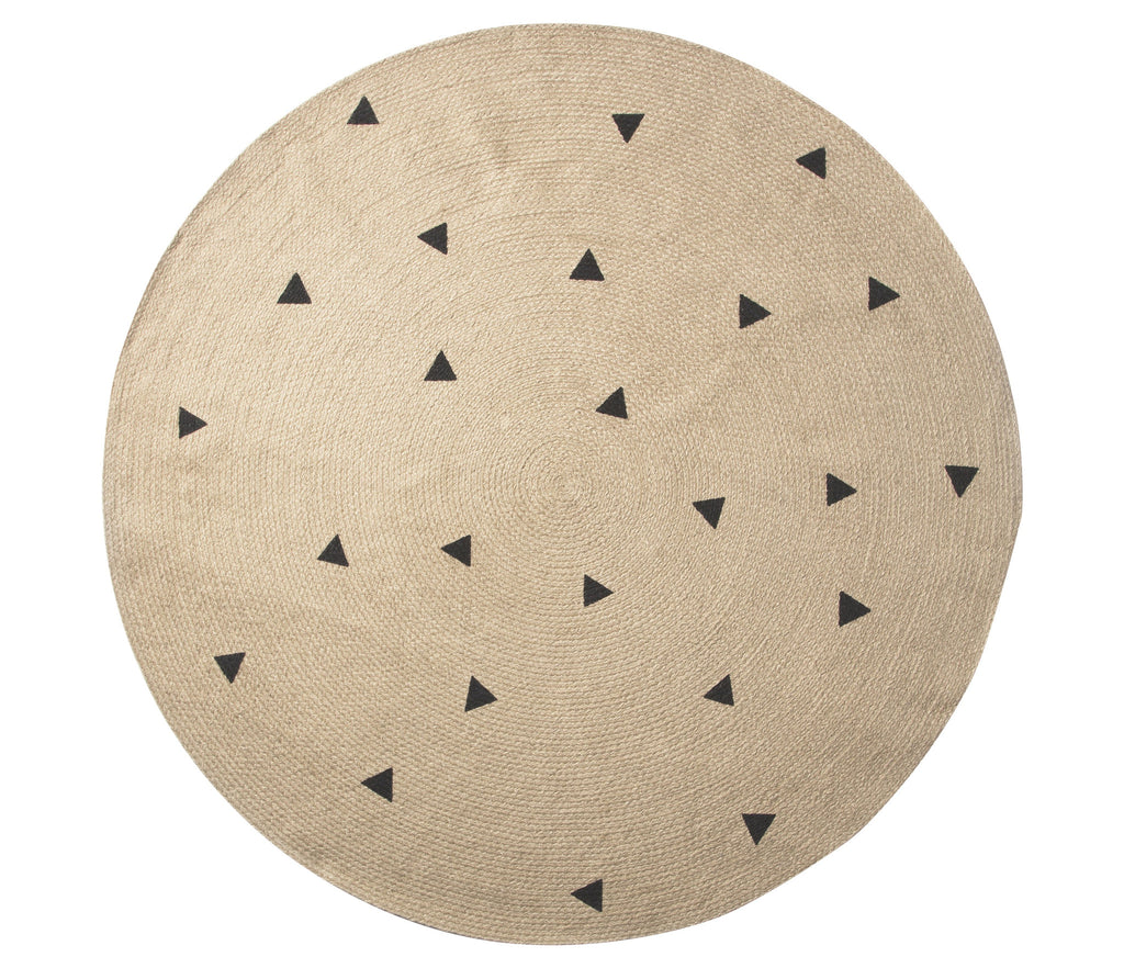 Large Jute Carpet in Black Triangles by Ferm Living