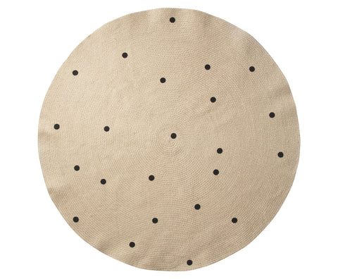 Large Jute Carpet in Black Dots by Ferm Living
