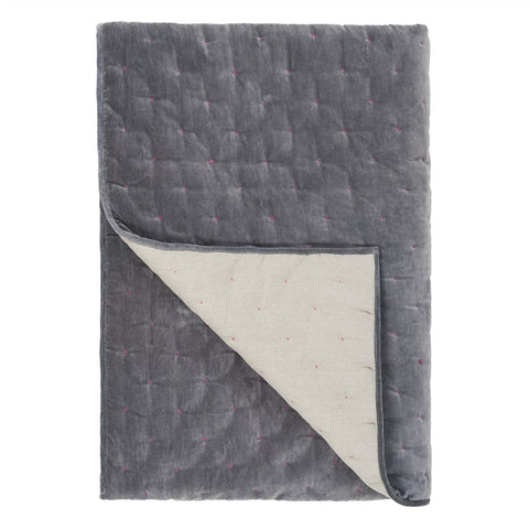 Sevanti Graphite Quilted Throws and Shams design by Designers Guild