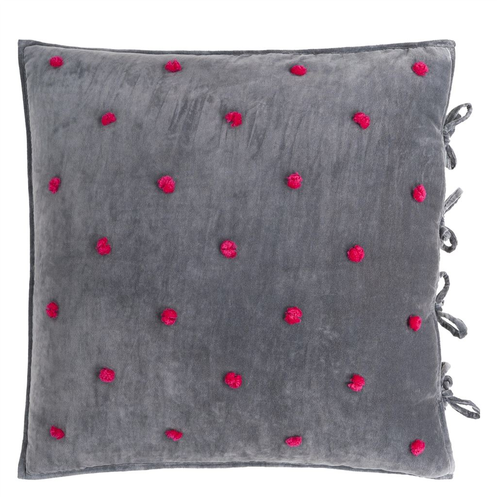Sevanti Graphite Quilted Throws and Shams