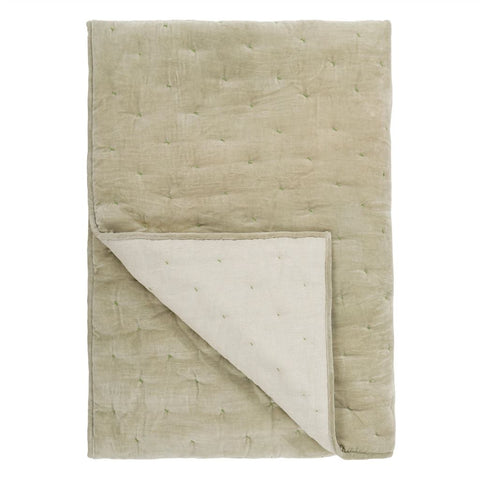 Sevanti Dove Quilted Throws and Shams design by Designers Guild