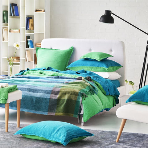 Bampton Emerald Throw design by Designers Guild