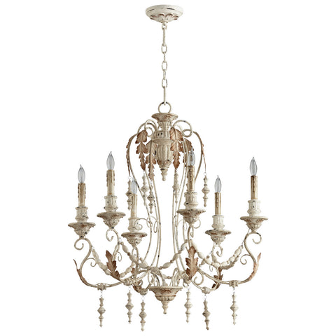 Lolina Six Light Chandelier in Persian White design by Cyan Design