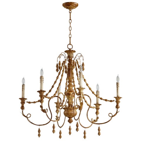 Lyon Six Light Chandelier in French Umber design by Cyan Design