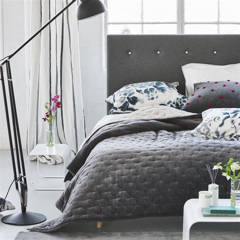 Sevanti Graphite Quilts & Shams design by Designers Guild