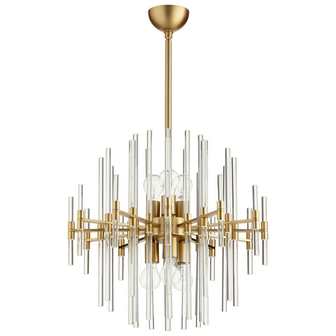 Small Quebec Pendant in Aged Brass design by Cyan Design