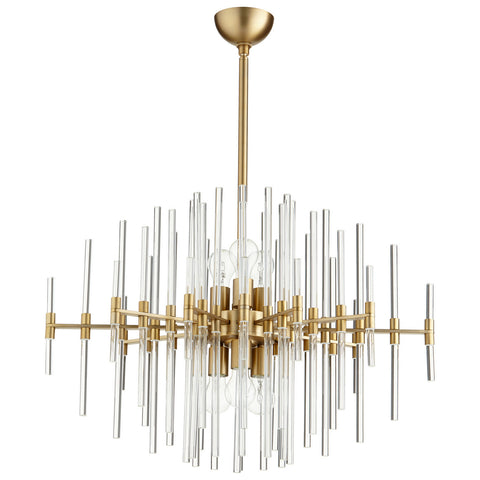Quebec Pendant in Aged Brass design by Cyan Design
