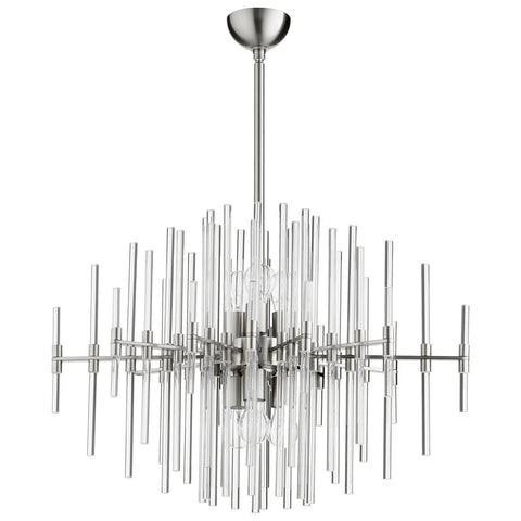 Quebec Pendant in Satin Nickel design by Cyan Design