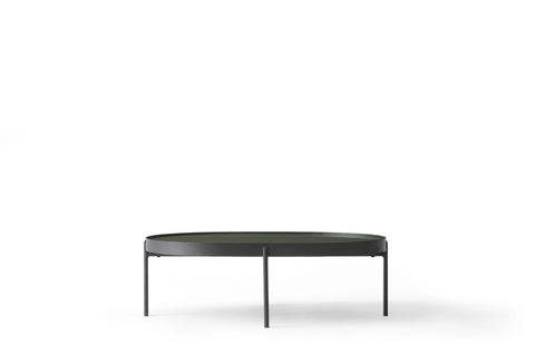 Large NoNo Table in Dark Green Glass design by Menu