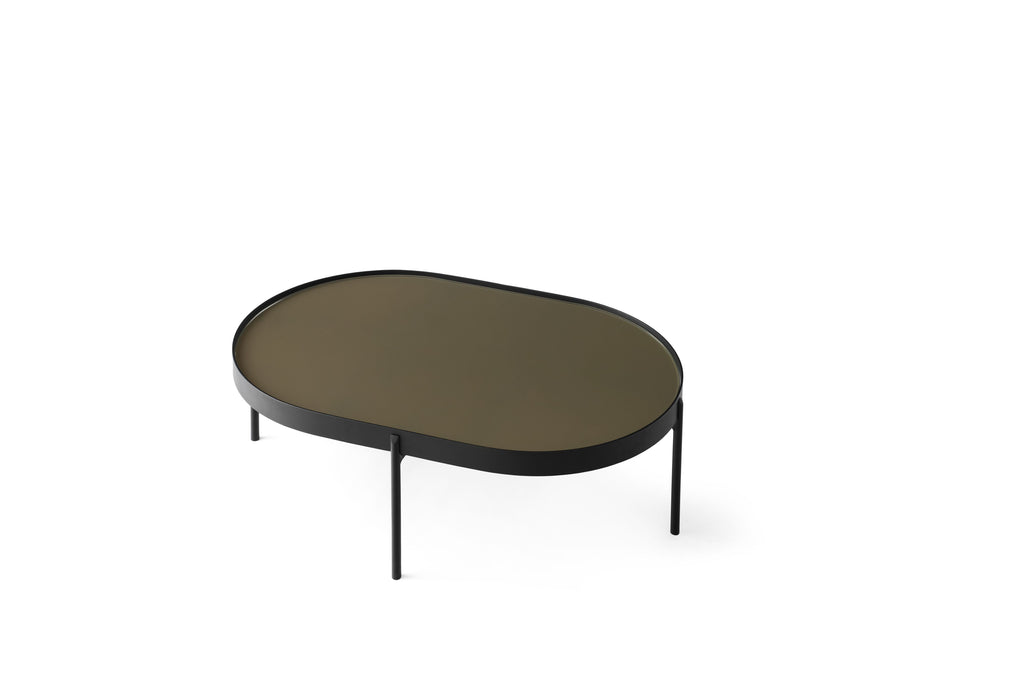 Large NoNo Table in Brown Glass design by Menu