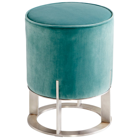 Opal Throne Ottoman in Teal design by Cyan Design