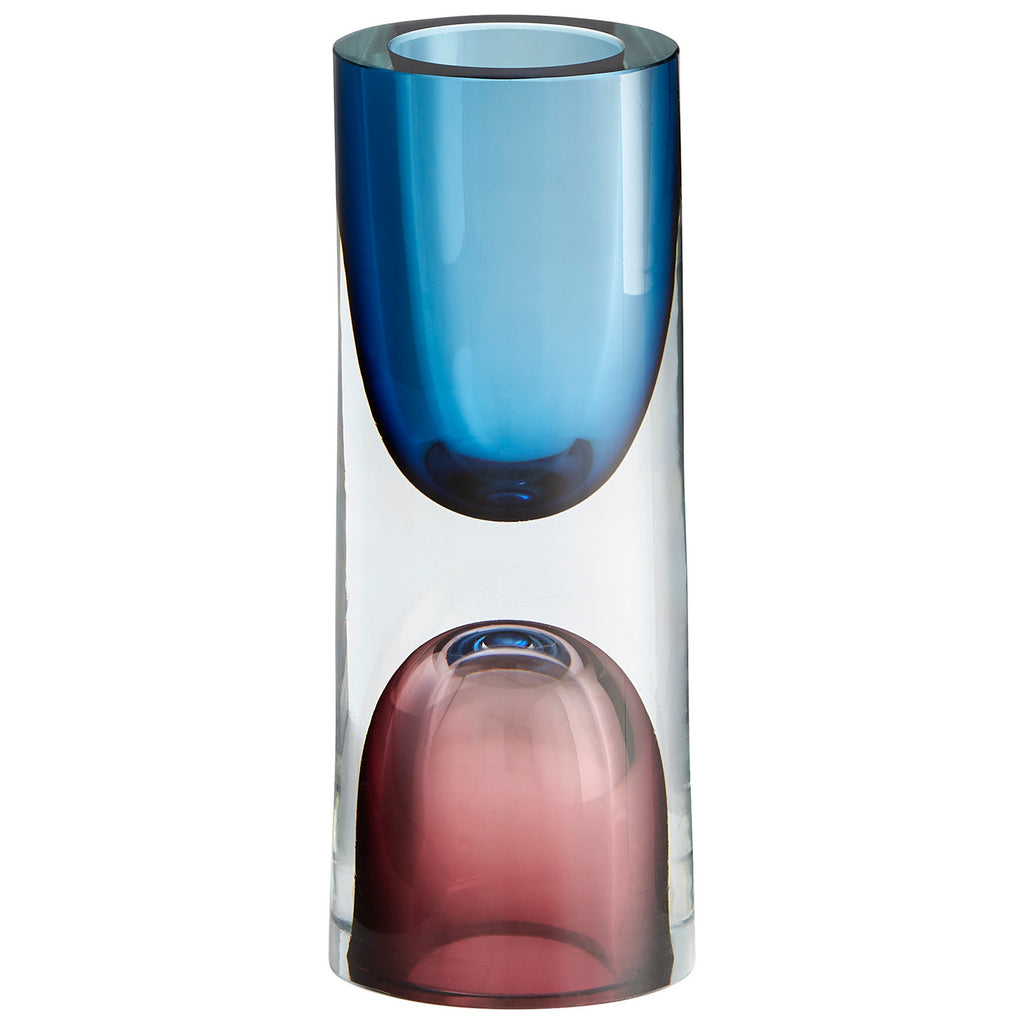 Small Majeure Vase in Purple & Blue design by Cyan Design