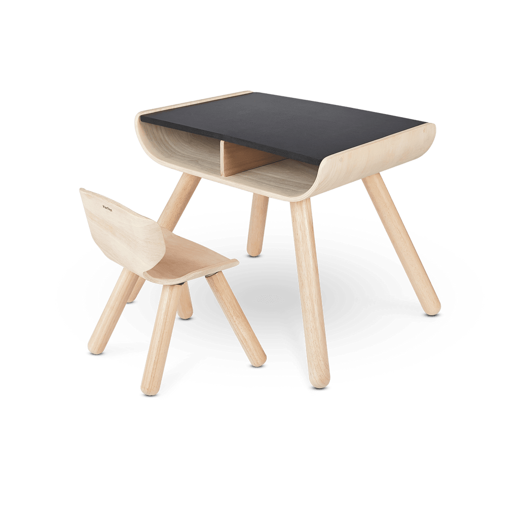 Table and Chair in Black