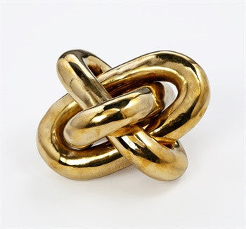 Wynn Brass Knot Sculpture design by Interlude Home