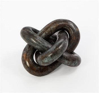 Wynn Verdigris Knot Sculpture design by Interlude Home