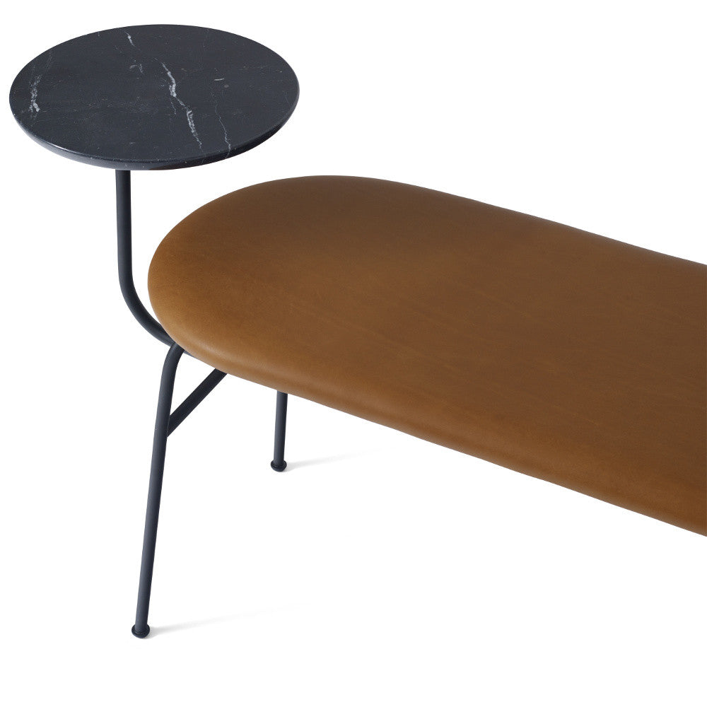 Afteroom Bench in Black w/ Cognac Dunes Leather design by Menu