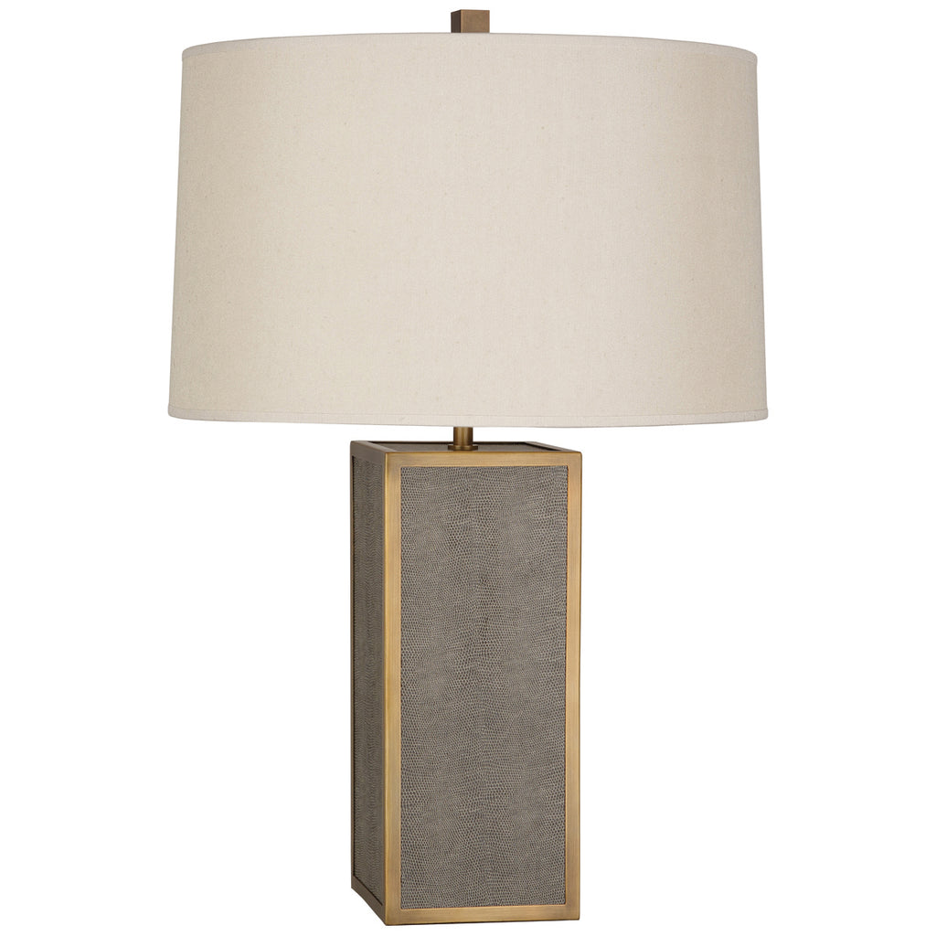 Anna Accent Lamp in Faux Brown Snakeskin design by Robert Abbey