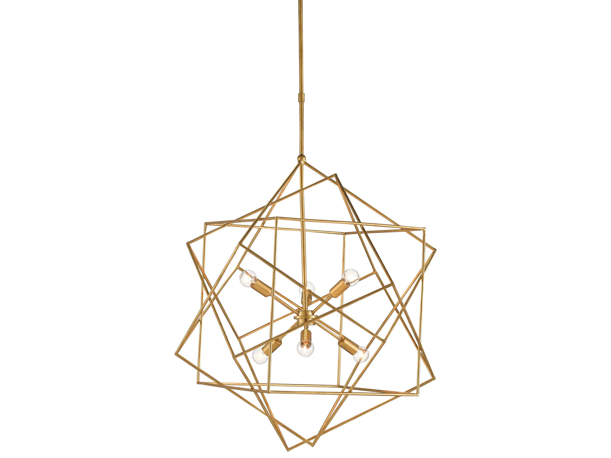 Aerial Chandelier In Antique Gold Leaf Design By Currey Company