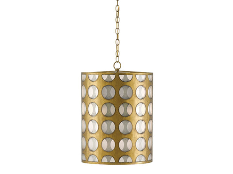 Go-Go Pendant in Brass design by Currey & Company