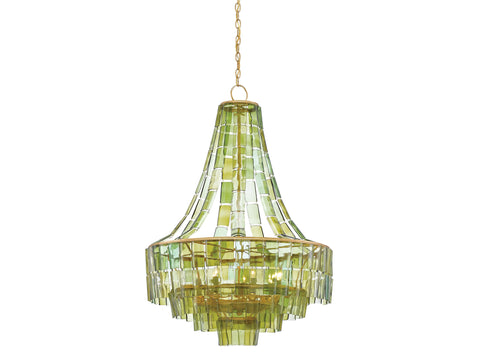 Vintner Chandelier in Green design by Currey & Company