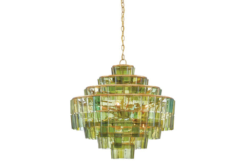 Sommelier Chandelier in Green design by Currey & Company