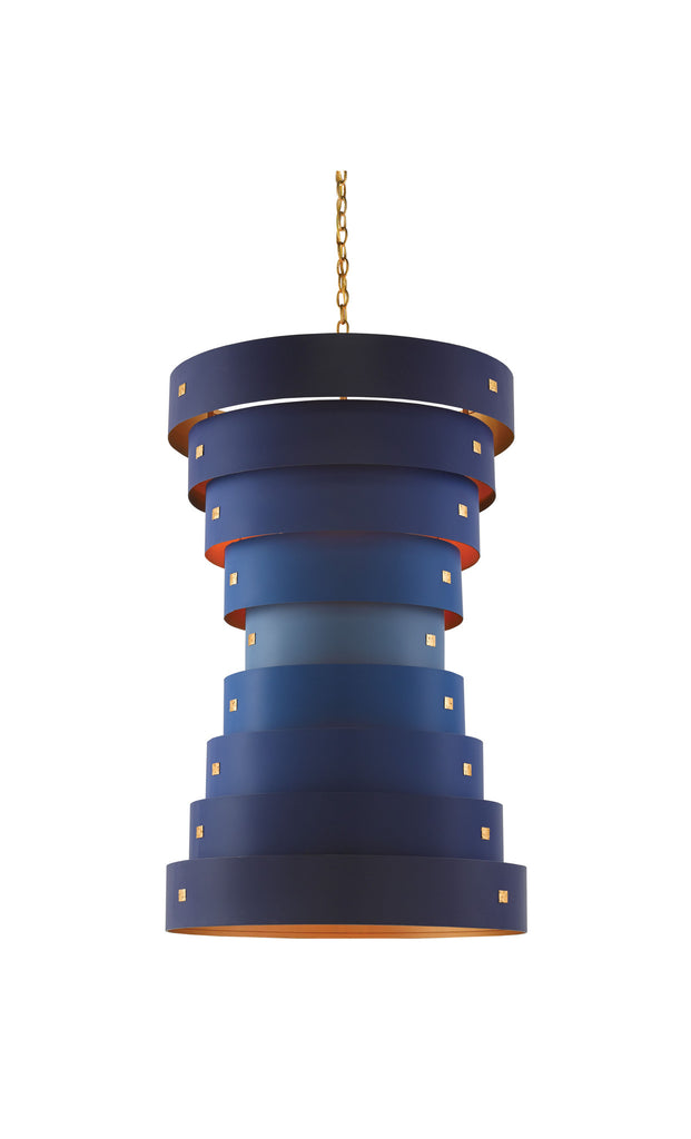 Graduation Chandelier in Blue design by Currey & Company