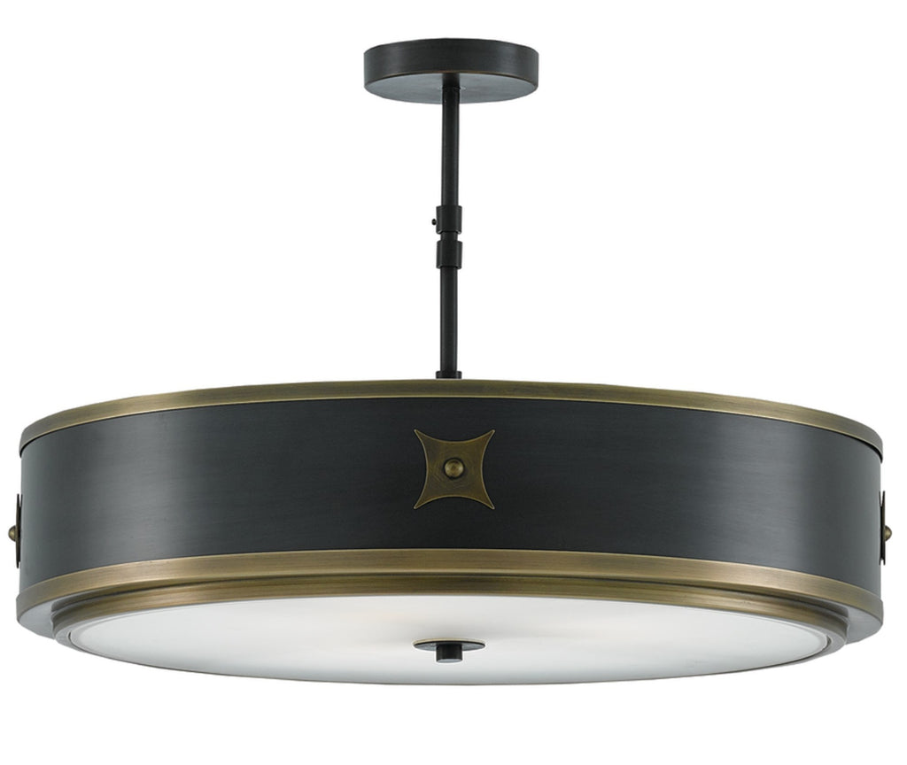 Huntsman Semi-Flush Mount design by Currey & Company