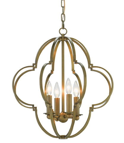 Sojourn Chandelier in Brass design by Currey & Company