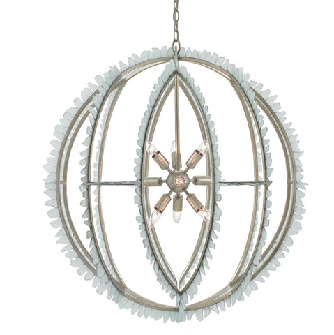Saltwater Orb Chandelier design by Currey & Company