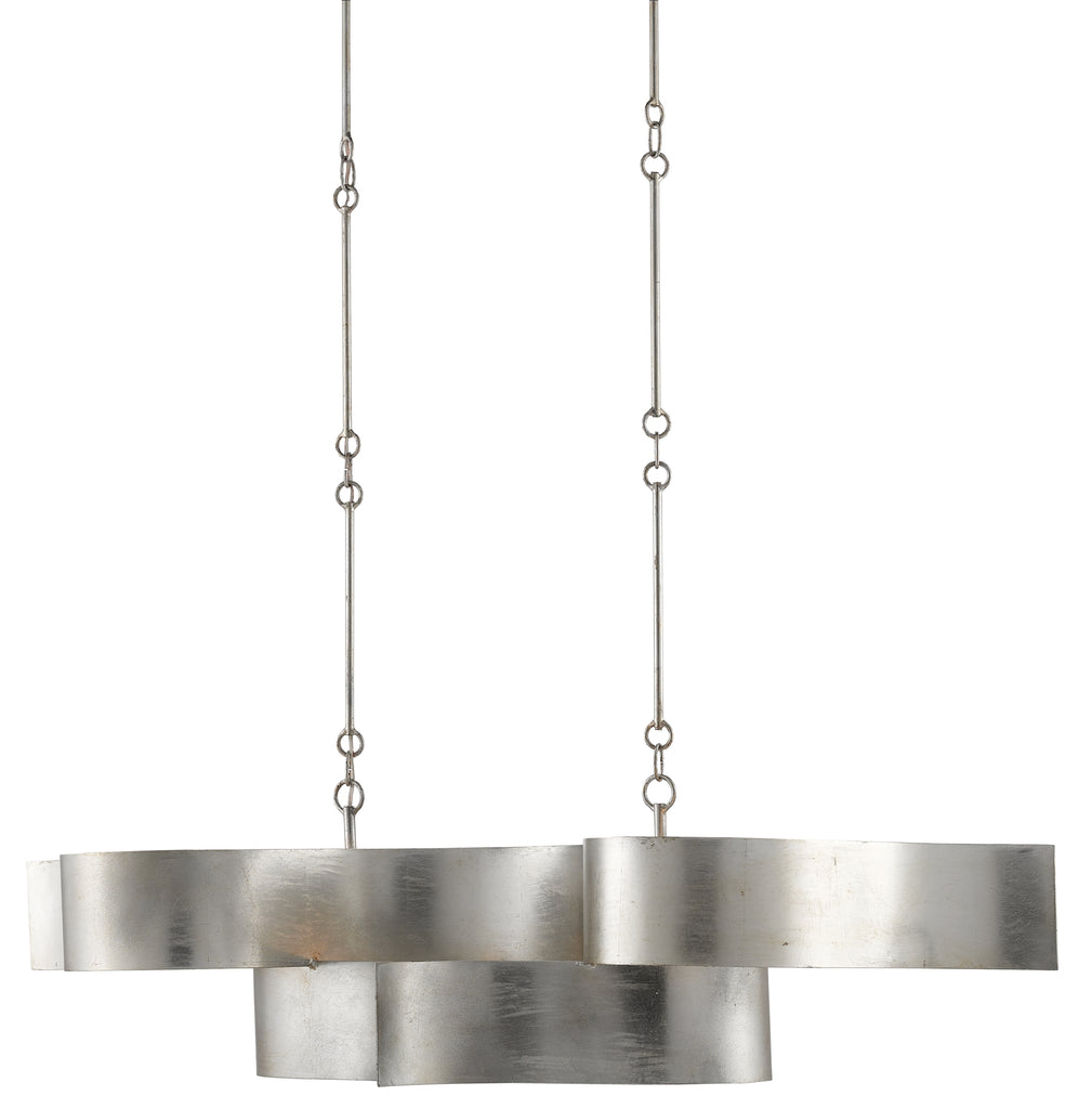 Grand Lotus Oval Chandelier in Various Finishes