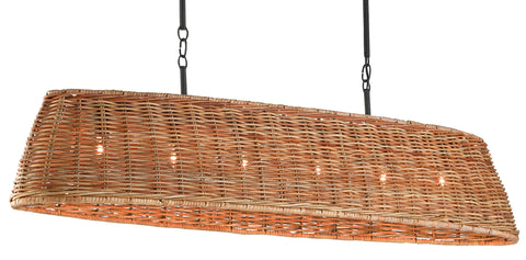 Basket Oval Chandelier by Currey & Company
