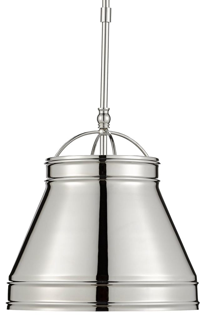 Lumley Nickel Pendant by Currey & Company